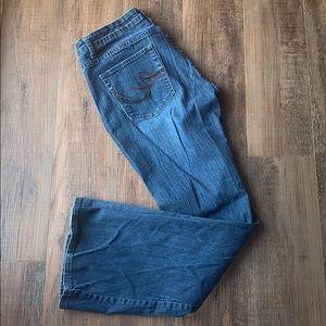 Express medium wash Stella bootcut jeans